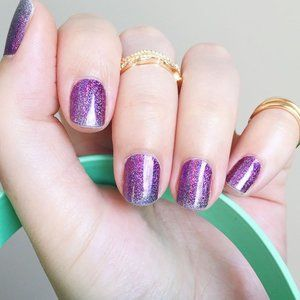 3/$36 🌷 Jamberry Purple Shimmer Nail Wraps FULL